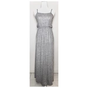 H&M DIVIDED Light Heather Grey Maxi Dress